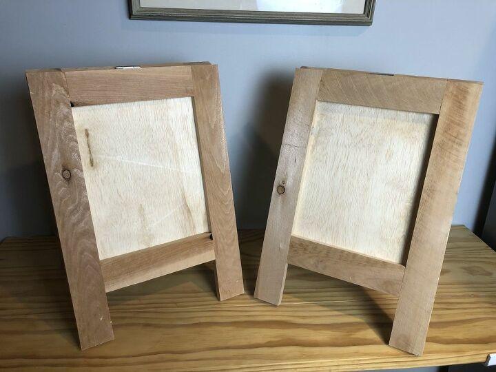 sandwich board style picture frame