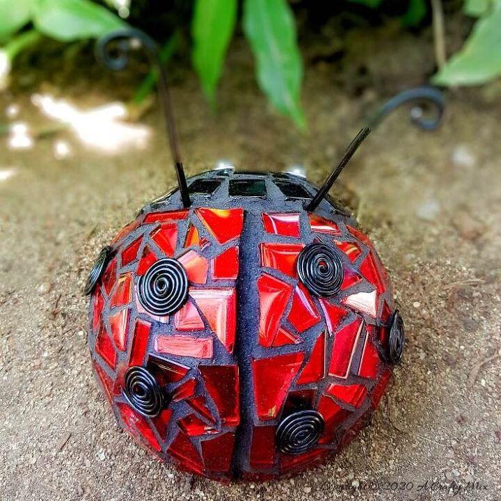 quick easy ladybug mosaic