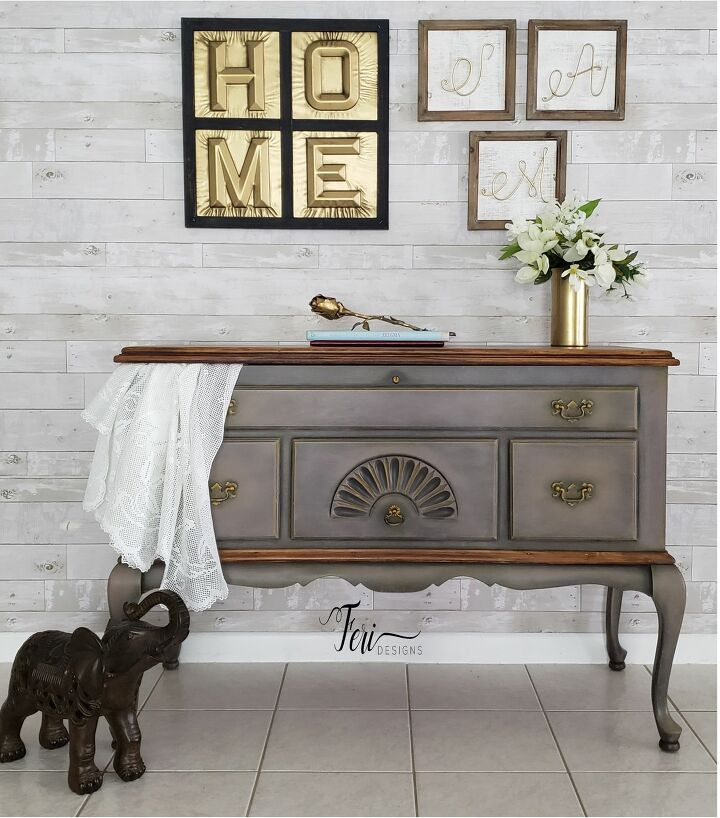 s 15 of the most beautiful furniture makeovers to inspire you this week, Transform an antique chest into an entryway table