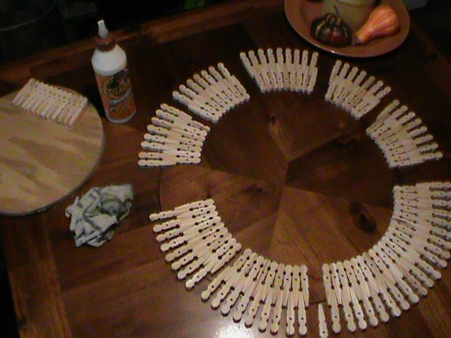 how clothespins help pass time by making a clock