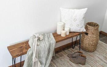 Super Simple DIY Farmhouse Style Bench