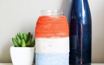 Make A Fun And Easy Twine Patriotic Mason Jar
