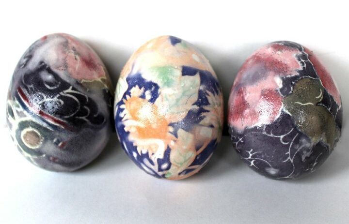 s 15 easter egg decorating techniques we can t wait to try this year, Dye these with silk ties