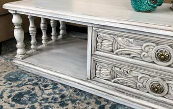Layers of Farmhouse White Ornate Vintage Coffee Table