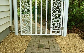 DIY PVC Pipe Gate With Snap-on Hinge