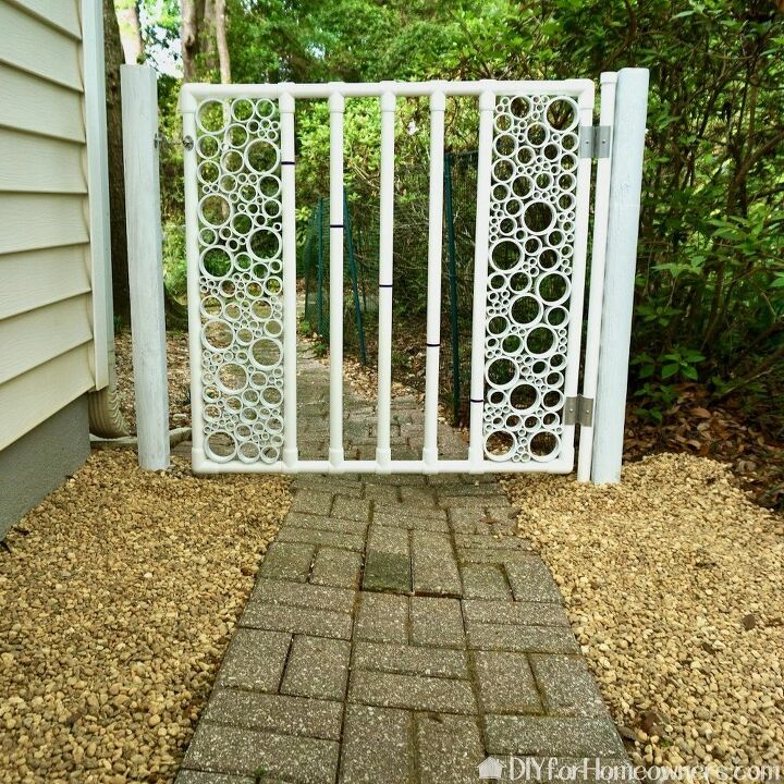 diy pvc pipe gate with snap on hinge