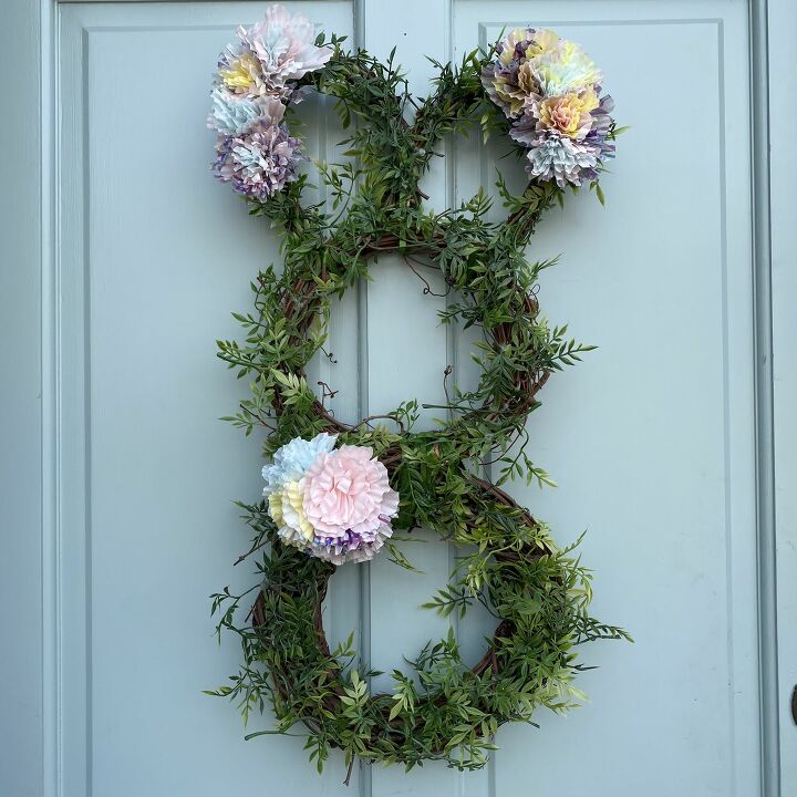 s 15 playful easter decorations that go beyond colorful eggs, Make a bunny shaped wreath