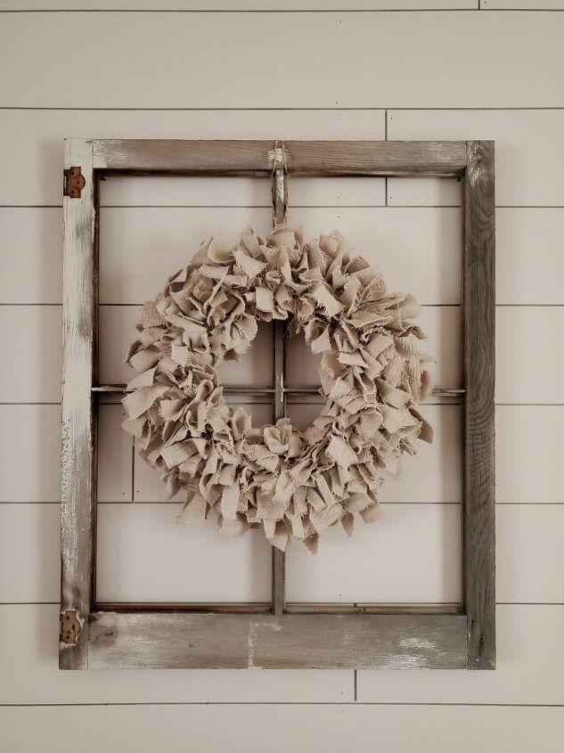 diy drop cloth wreath