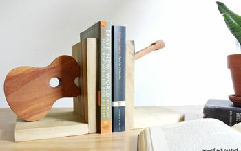 Scrap Wood Guitar Bookends!