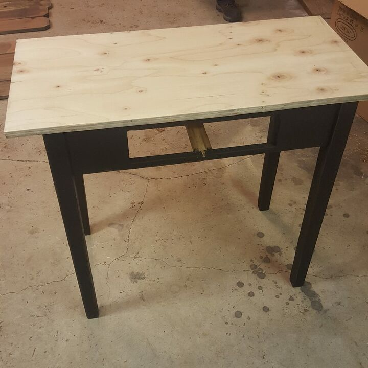 vintage yardstick table