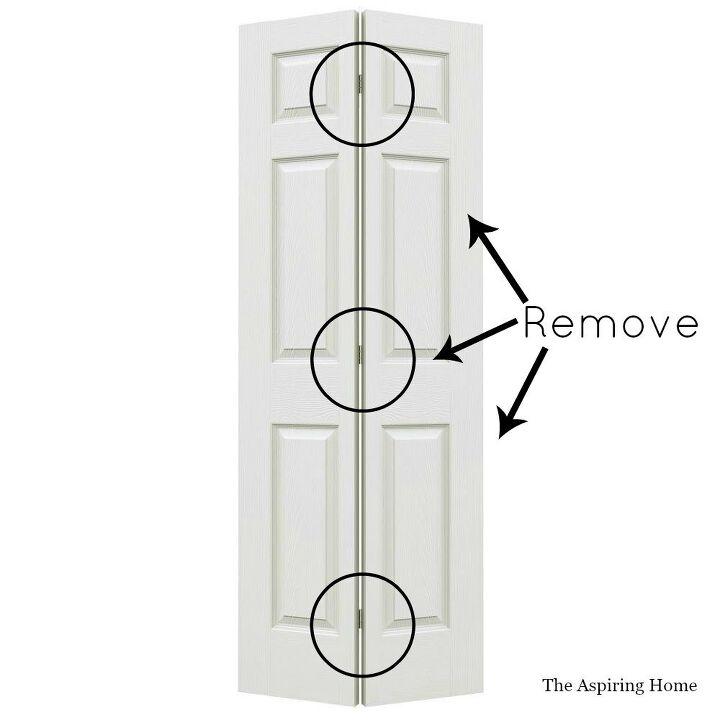 diy petite double doors from bifold doors