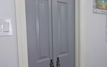 DIY Petite Double Doors From Bifold Doors