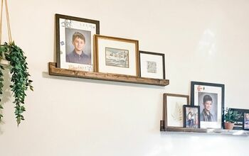 DIY Picture Ledge Shelves + Living Room Makeover