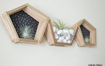 DIY Pentagon Popsicle Stick Shelf