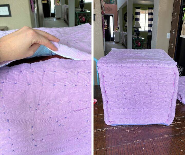 easy tufted ottoman cover