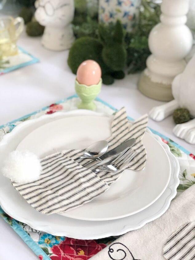 diy easter bunny utensil holder