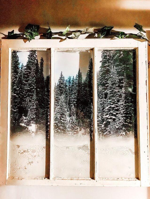 antique window looks like a real life scene