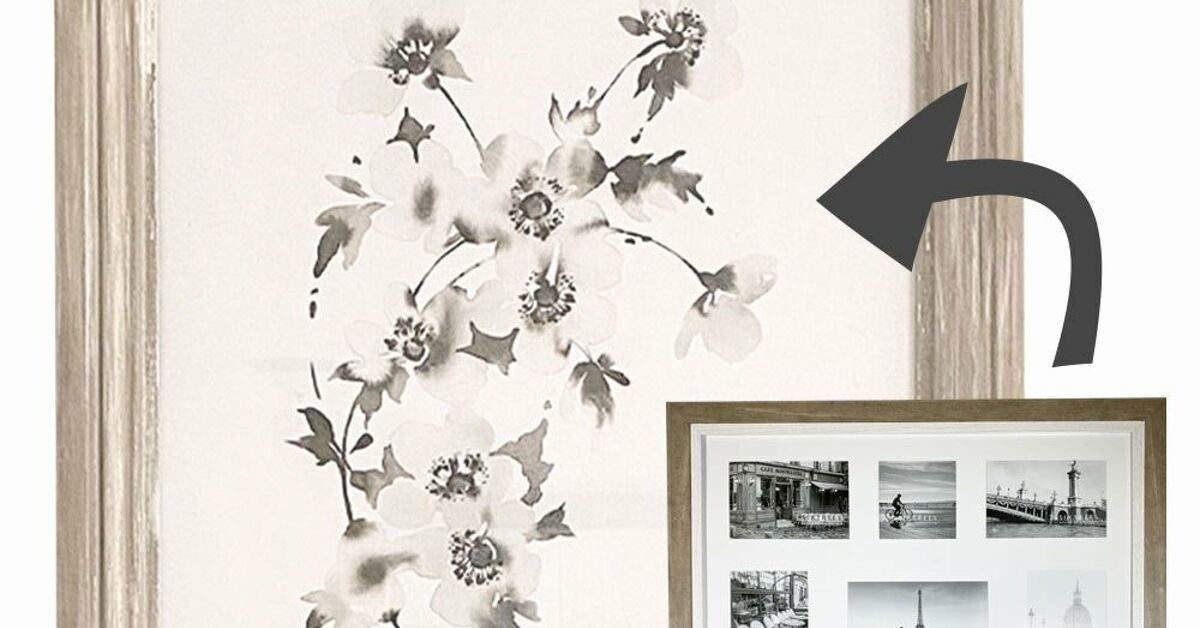 How To Make Large Diy Rustic Frames From Outdated Or Cheap