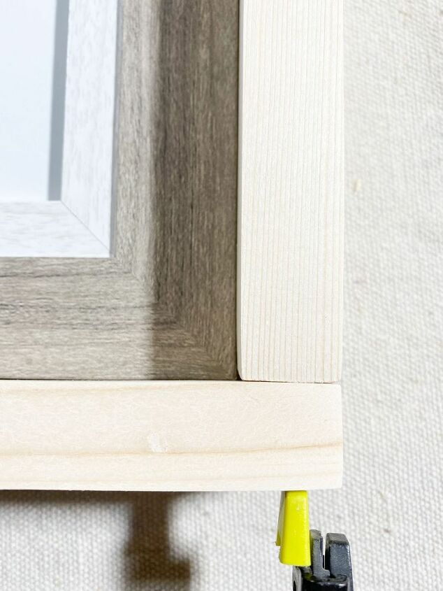 how to make large diy rustic frames from outdated or cheap frames