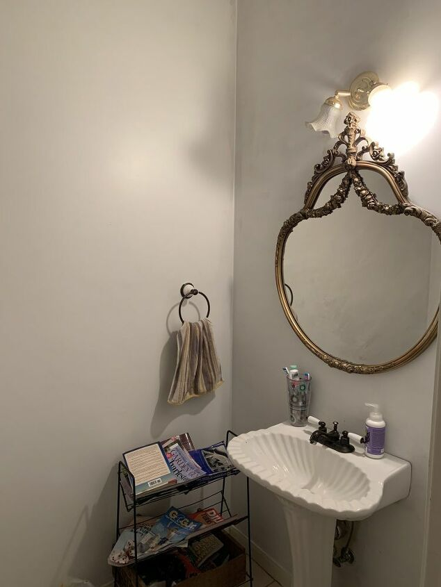 how to stencil a powder room wall with stencil revolution