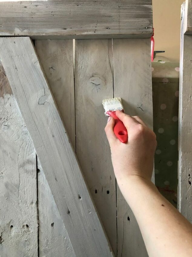 turn a shelving unit into a cupboard