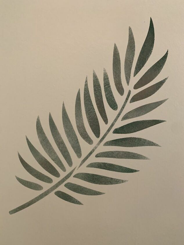 Green Painted Palm Leaf