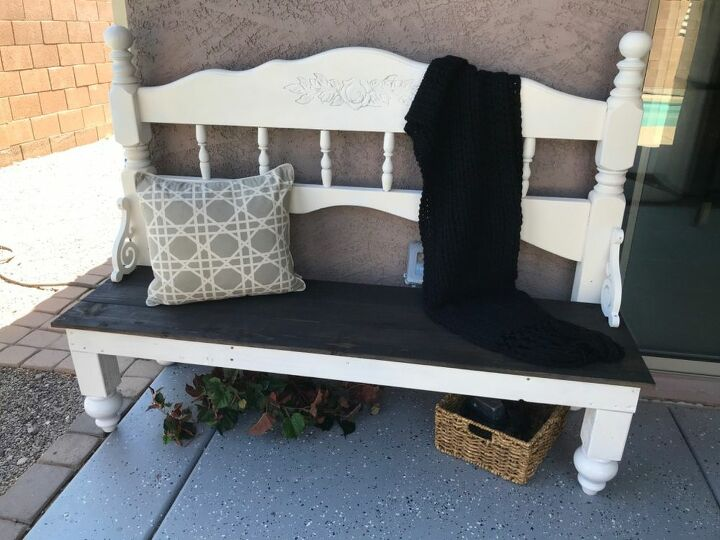 how to build a headboard bench in an afternoon