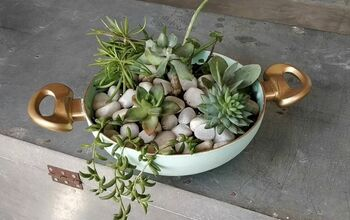 Your Guide to Making a DIY Succulent Planter From an Old Frying Pan