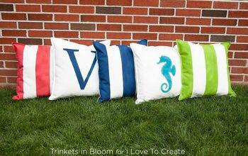 DIY Custom Outdoor Pillows