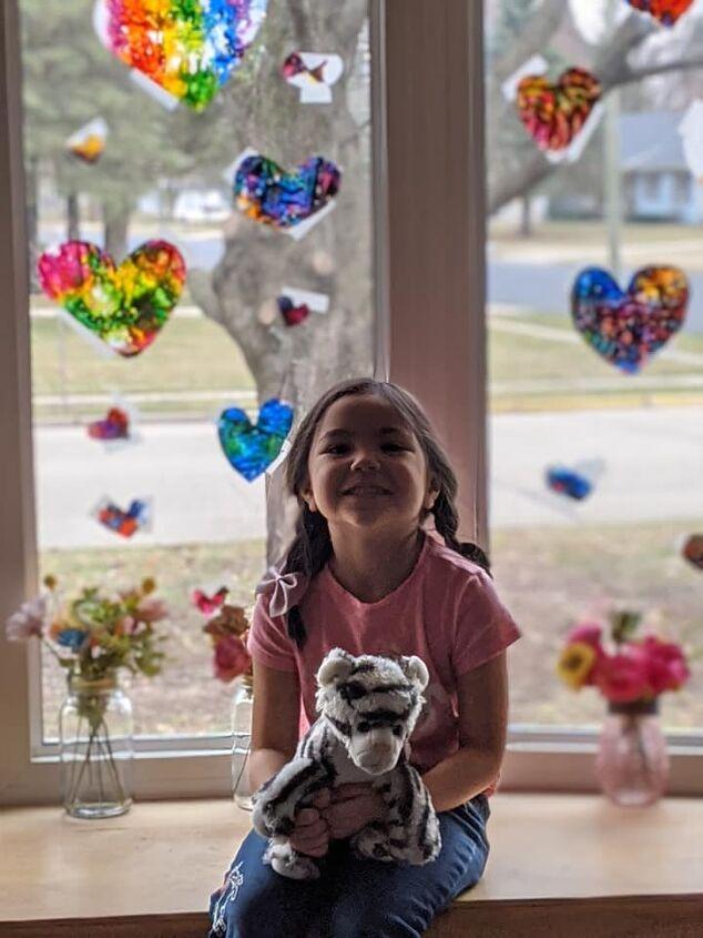 funday friday kid s craft wax paper crayon hearts