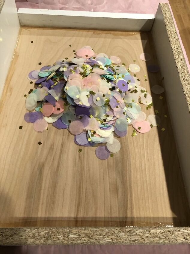 confetti serving tray fun project with kids