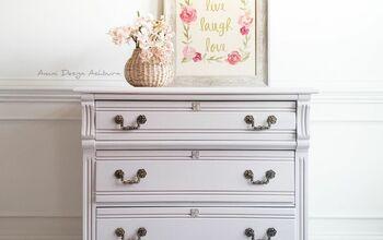 Oak Dresser Pink Makeover