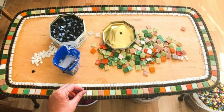 Adding tiles to table with PVA glue