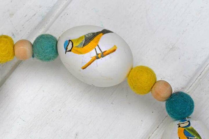 decoupage real egg wreath