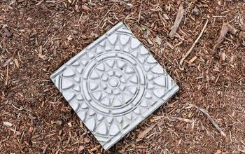 How To Make Stamped Garden Stepping Stones