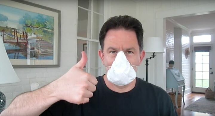 create a diy no gap mask with basic household goods, DIY No Gap Mask