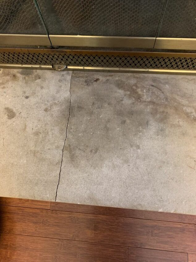 q how can i repair a concrete ledge on fireplace paint