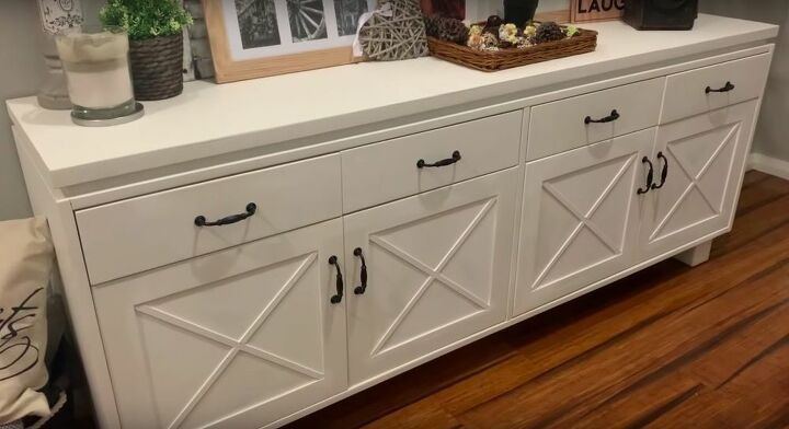 quick and easy farmhouse cabinet update