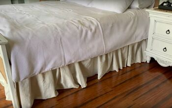 How to Make a Quick and Easy No-Sew Bed Skirt From Drop Cloth