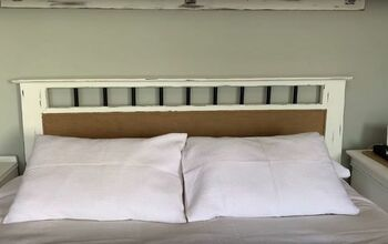 My Super Simple DIY Farmhouse Bed Makeover