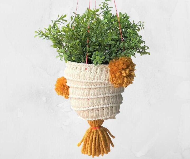 hanging boho planter