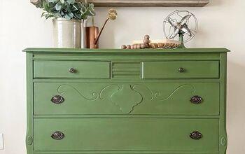 """Green With Envy"" Dresser Makeover"