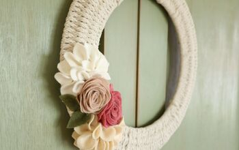 Handmade Woven Wreath-Dressed for Spring