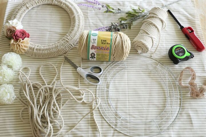 handmade woven wreath dressed for spring