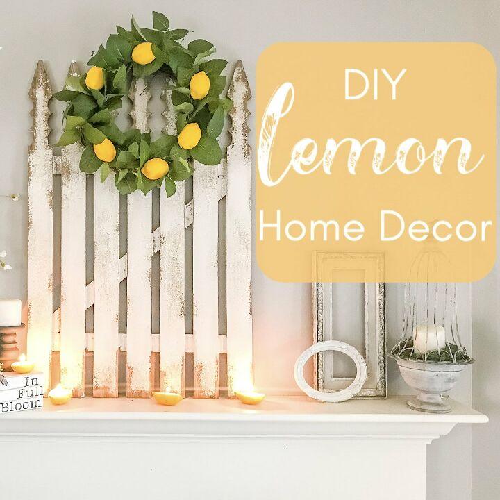 diy lemon candles