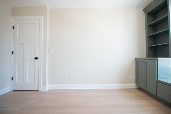 how to add chair rail to a bare wall