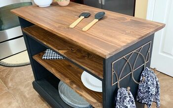 Repurposed FREE Sideboard Cabinet Into Kitchen Island