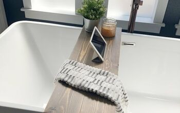Super Simple DIY Bathtub Tray