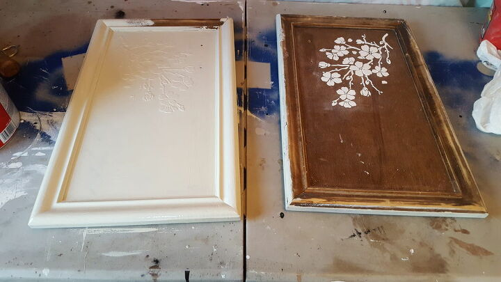 antiqueing kitchen cabinets and creating wood icing designs