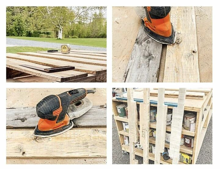 diy mobile pallet coffee table